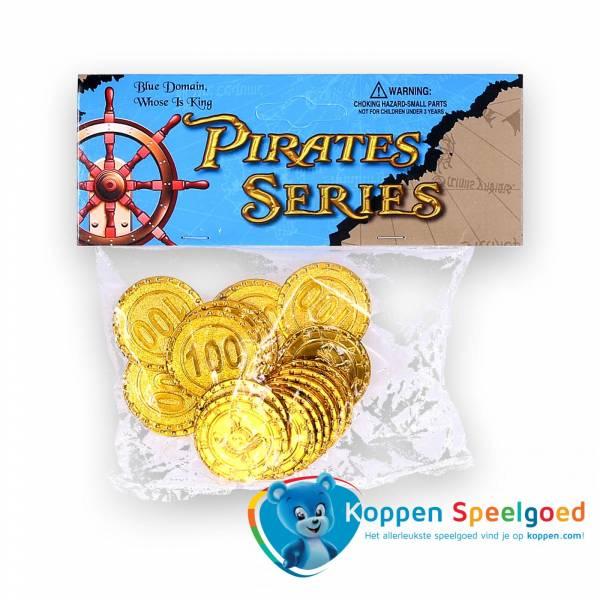 20 piratenmuntjes in zakje