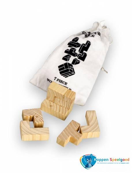 3D Puzzel Kubus in zakje, hout