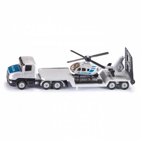 Scania vrachtwagen met helikopter SIKU (1610)