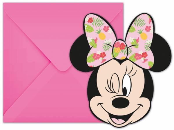 Uitnodigingen Minnie Mouse: 6 stuks (89237P)