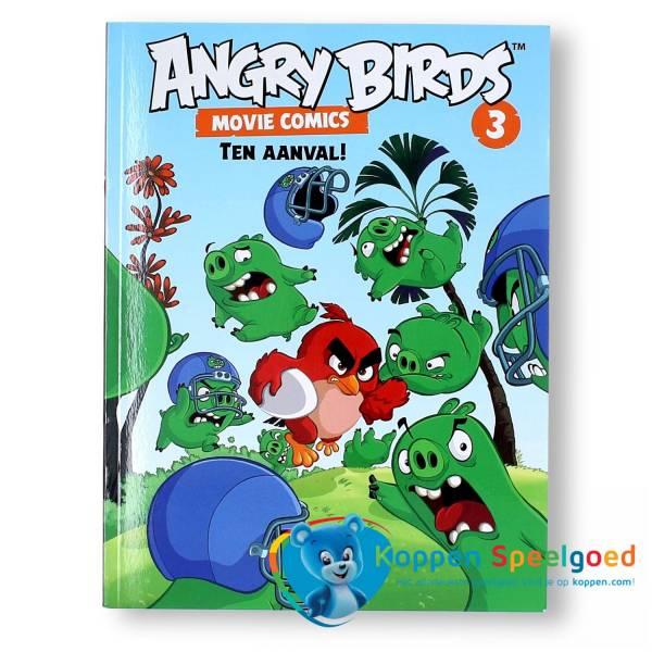 Stripboek Angry birds ten aanval