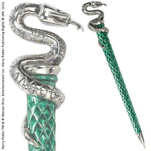Serpentard pen - zilver verguld