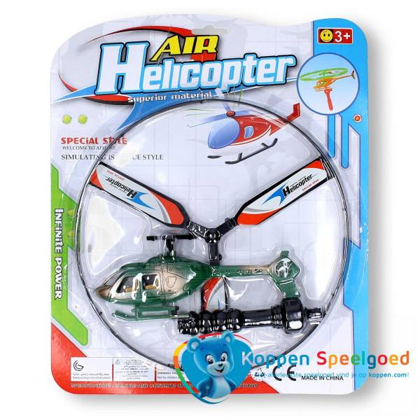 Afschiet helikopter op kaart