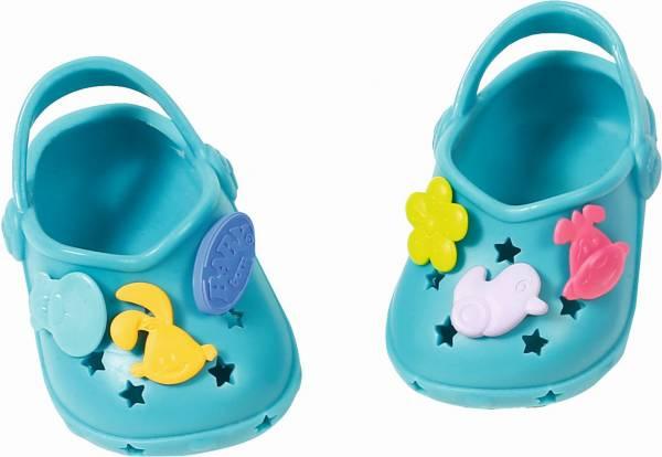 Schoenen met leuke pins Baby Born: turquoise (8681 43/824597)