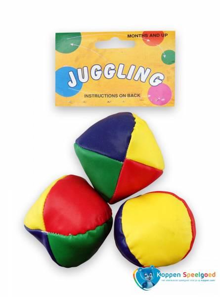 3 jongleerballen in net