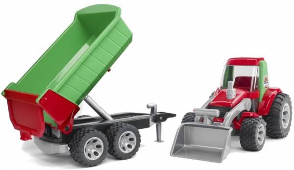 Tractor met voorlader en aanhanger Bruder Roadmax (20116)