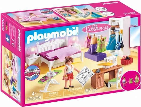 Slaapkamer met kledingkast Playmobil (70208)