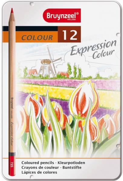Kleurpotloden in blik Expression: 12 stuks (7705M1 2)