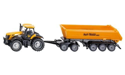 Siku Tractor met dolly en kantelbak