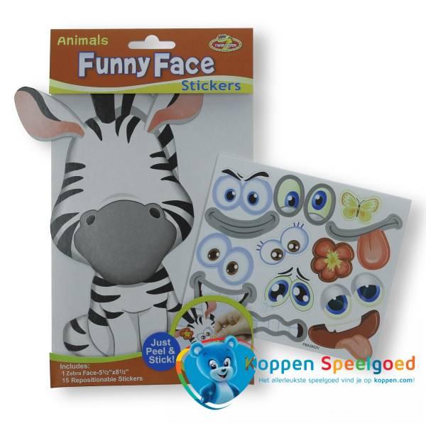 Grappige dieren gezichten stickers