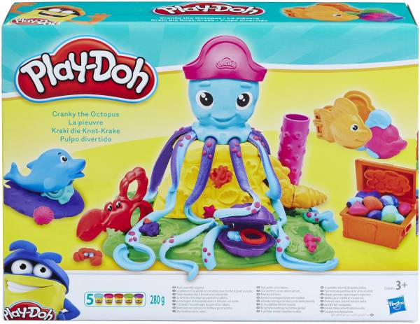 Cranky de Octopus Play-Doh: 280 gram (E0800)