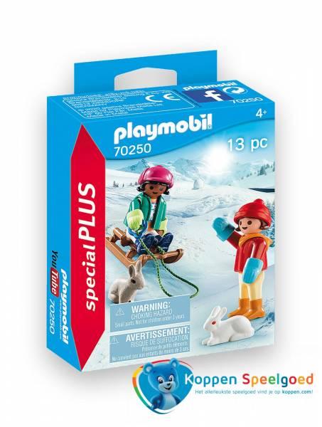 PLAYMOBIL Kinderen met slee - 7250