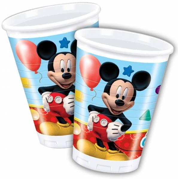 Bekertjes Mickey Mouse 200 ml: 8 stuks (81509P)
