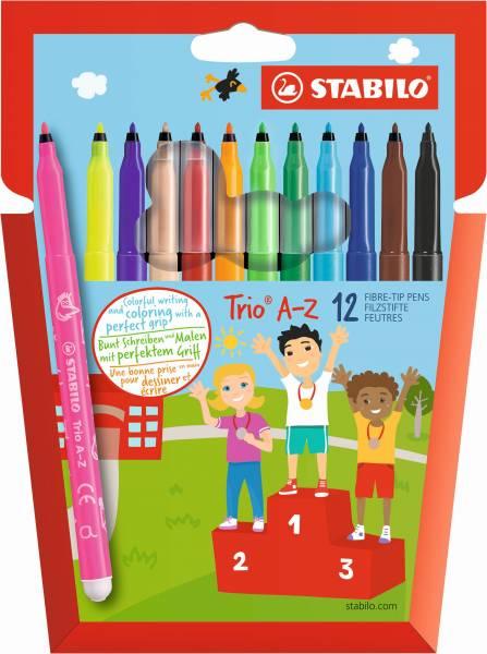 Viltstiften Stabilo Trio A-Z 12 stuks