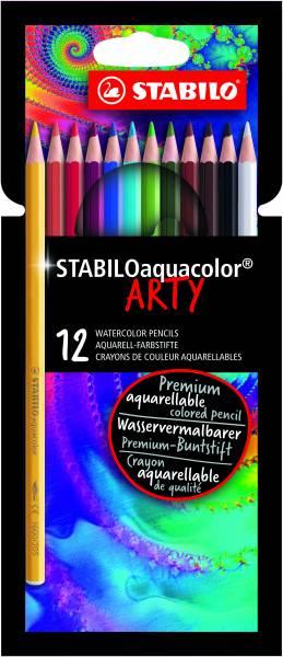 Kleurpotlood Stabilo Arty Aquacolor: 12 stuks (1612-1-20)