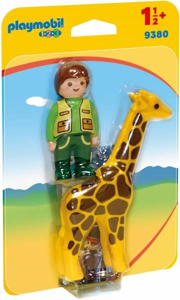 Dierenverzorger met giraf Playmobil (9380)