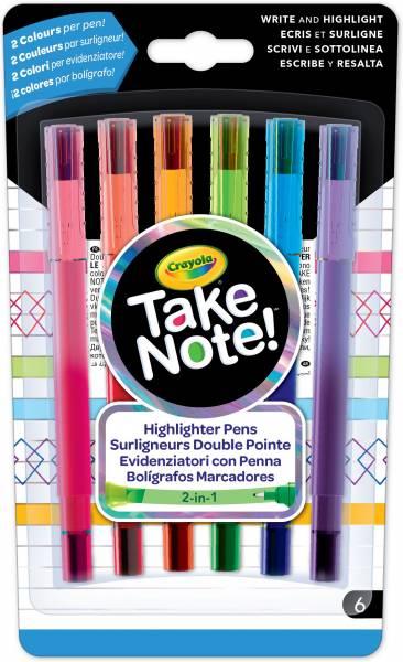 Markeerstiften met fijnschrijver Crayola: 6 stuks (58-6560)