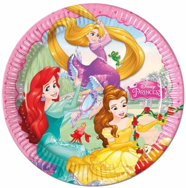 Bordjes Princess 23 cm: 8 stuks (86677P)