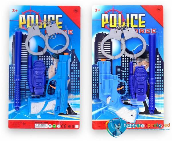 Politieset op kaart