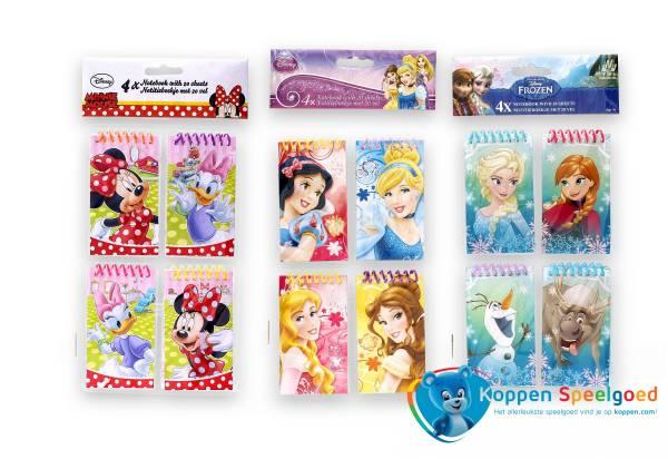Disney vier notitieblokjes meisje