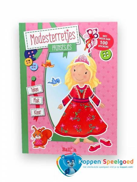 Modesterretjes: prinsesjes kleur- stickerboek