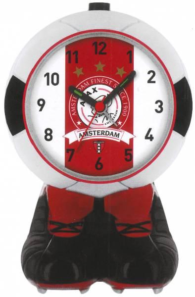 Wekker ajax bal rood/wit finest: 16 cm