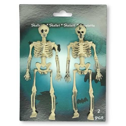 Twee skeletten op kaart