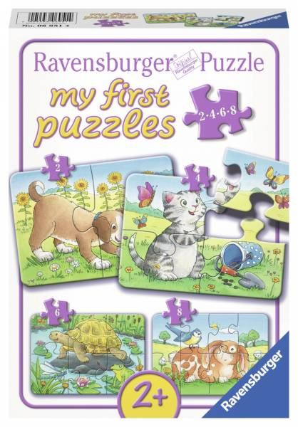 Puzzel My First Huisdieren 4 in 1 2/4/6/8 stukjes