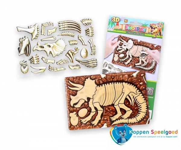 Dinosaurus puzzel met 3D stickers