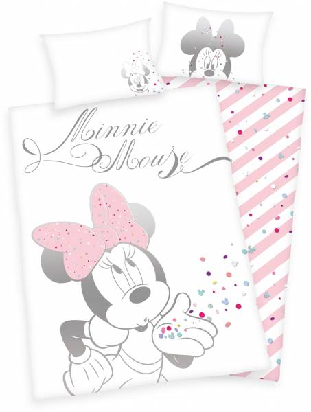 Dekbedovertrek Minnie Mouse ledikant