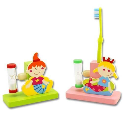 Tandenborstelhouder zeemeermin, hout