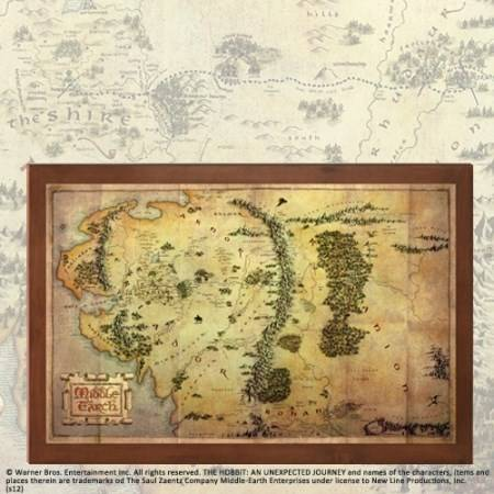 De Middle Earth map