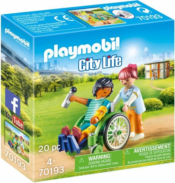 Patient in rolstoel Playmobil (70193)