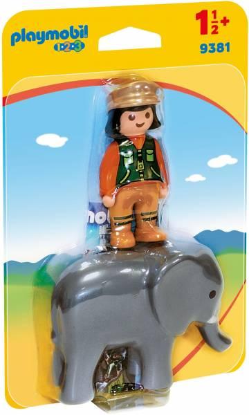 Dierenverzorgster met olifant Playmobil (9381)
