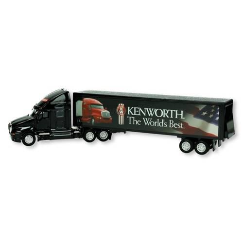 Vrachtwagen met oplegger, metaal