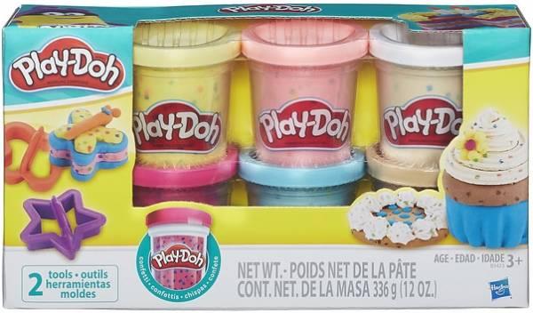 Confetti Play-Doh 6-pack: 336 gram (B3423)