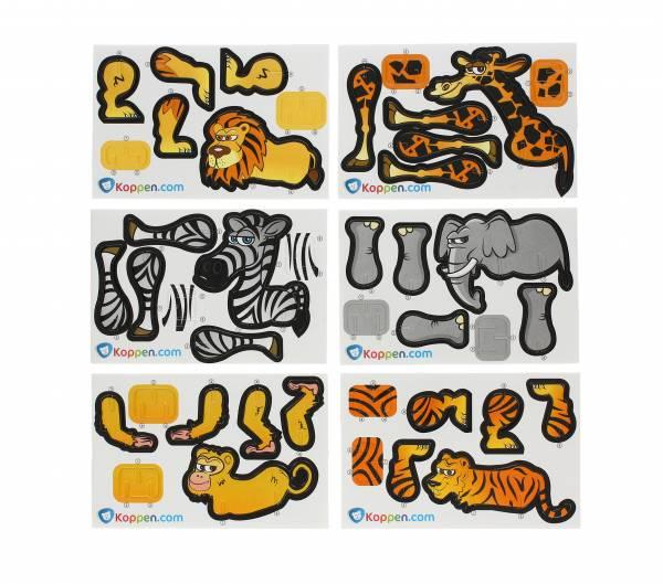 3D Puzzel Wilde dieren