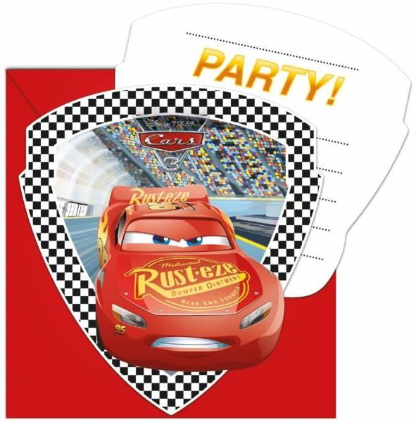 Uitnodigingen Cars 3: 6 stuks (87802p)