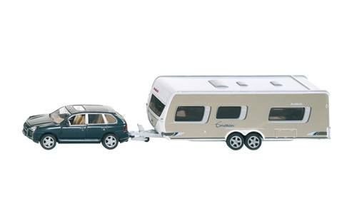 Siku Personenwagen met caravan