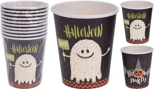 10 Halloween bekers karton