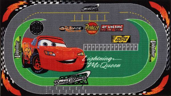 Vloerkleed Cars Racing: 170x100 cm (15273)