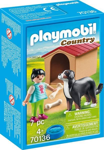 Jongen met hond Playmobil (70136)
