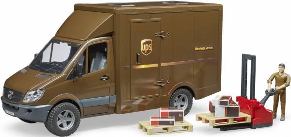 MB Sprinter UPS met accessoires Bruder