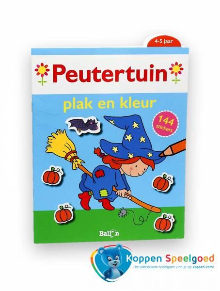 Peutertuin sticker- kleurboek heks
