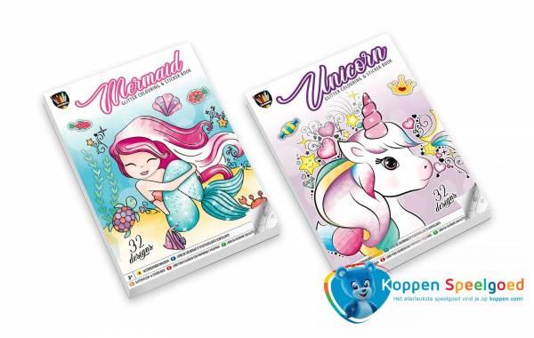 Glitter sticker-kleurboek