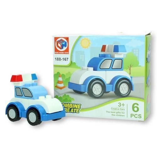 Grote bouwstenen politie auto