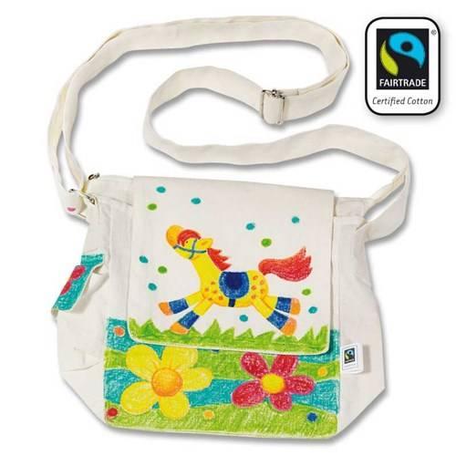 Kleur je eigen schoudertas, Fair Trade