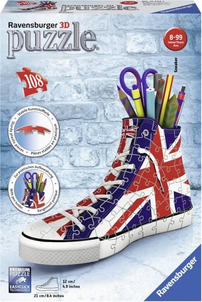 Puzzel Sneaker Engelse vlag 3d: 108 stukjes (11222 7)